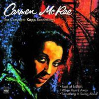 Carmen McRae: THE COMPLETE KAPP RECORDINGS (3 LPS ON 2 CDS)