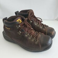 Caterpillar Men's Size 11 Brown Work Boots ASTM F2413-05 Leather Steel Toe