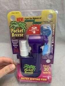 Vintage/Retro Squeeze Breeze Pocket Breeze 2 Fans In 1 Water Misting, Hand NIB!!