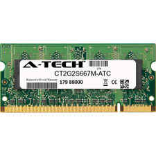 2GB DDR2 PC2-5300 667MHz SODIMM (Crucial CT2G2S667M Equivalent) Memory RAM