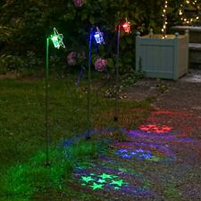 Outdoor Christmas Plug In Star Stake LED Projector Garden Lights | Xmas Pathway