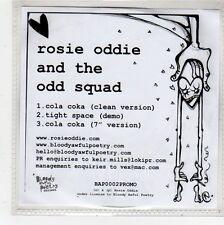 (FQ585) Rosie Oddie And The Odd Squad, Cola Coka - DJ CD