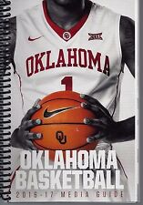 2016-17 OKLAHOMA SOONER Men's BASKETBALL MEDIA GUIDE - NEW