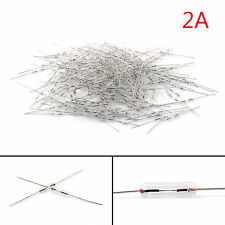 200Pcs Glass Fuse Tube Axial With Lead Wire Fast Blows Fuse 3x10mm 250V/2A
