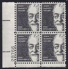 Usa-united States 1966 € 5 spese di spedizione John Bassett più scozzese 1295 controllo blocco di 4