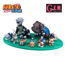 NARUTO SHIPPUDEN - Kakashi & Ninken Ninja Dog Set Pvc Figure G.E.M. Megahouse