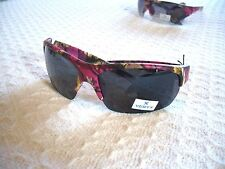 WOMEN'S CAMOUFLAGE SUNGLASSES 2 HOT COLORS~HALF RIM VERTX~56313 UV400 PINK CAMO.