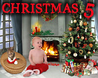 CH5 Christmas New Year Holiday Digital Backgrounds Templates Children Fairytale