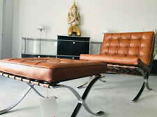 Knoll International Barcelona Chair + Hocker, Relax Version, Mies v.d. Rohe,Top!