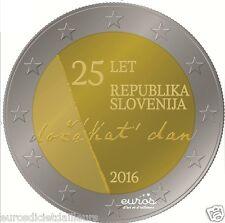 Pièce 2 euros SLOVENIE 2016 - 25ème anniversaire Indépendance de la Slovénie