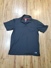 the north face black polo short sleeve with pocket men size m
