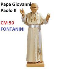 Statua religiosa FONTANINI papa giovanni paolo II con zucchetto cm 50 in resina