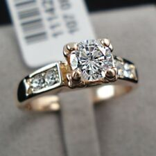 18K Rose Gold Plated Dress Engagement Eternity RING CZ Free Gift Pouch