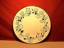 Home Trends Dinnerware Ebony Floral Pattern Dinner Plate