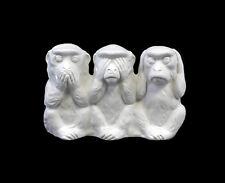 Porzellan Figur 3 Affen der Weisheit Nikko weiß Wagner & Apel 20x9x15cm 9942484