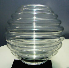 "KOSTA BODA MONICA  BACKSTROM  ""HOLLYWOOD"" CIRCLE VASE, SIGNED, C1982-4."