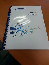SAMSUNG GALAXY TAB 2 10.1 P7500 A4 QUALITY FULLY PRINTED 136  PAGES MANUAL