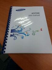 SAMSUNG Galaxy Tab 2 10.1 P7500 A5 Qualità completamente STAMPATA 136 pagine manuale