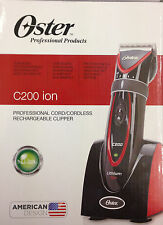 OSTER C200 ION PROFESSIONAL RECHARGEABLE CORD/CORDLESS CLIPPER *LITHIUM* *BNIB*