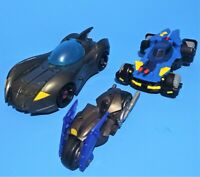 Mattel Imaginext Batman Batmobiles and Batcycle Loose