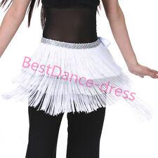 US2 Belly Dance Hip Scarf Belt Tribal Fringe Tassel wrap Belt Hula Skirt Costume
