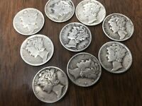 1940's Mercury Dimes - 90% Silver - PRICE  LISTED IS PER COIN!  SEE DESCRIPTION