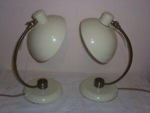 pair retro style table lamps John Lewis Penelope quince 99p no reserve