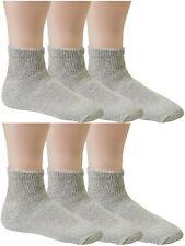 12 Pairs Diabetic Ankle Quarter Socks Health Cotton Men Women Circulatory 10-13