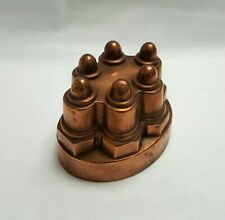More details for antique copper w&b jelly / jello oval mould with six dome turrets, no. 342