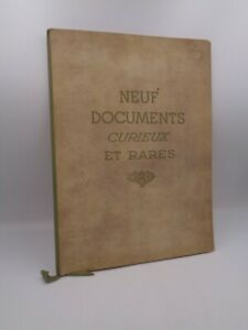 New Documents Curious And Rare 9 Facsimiles
