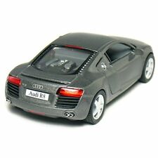 """New Kinsmart 5"""" Audi R8 Diecast Model Toy Car 1:36 - Grey"""