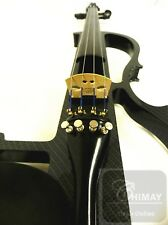 NEW ***HIGH QUALITY ELECTRONIC VIOLIN WITH PRELUDE STRINGS+ FRANCE BRIDGE