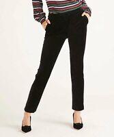 "Boden Womens Size 4P Petite Black Velvet 7/8 Trousers Pants 24"" Inseam NEW"
