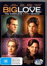 BIG LOVE (COMPLETE SEASON 3 - DVD SET SEALED + FREE POST)