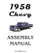 58 Impala Bel Air Chevrolet Factory Assembly Manual Loose Leaf UnBound 290 Pages