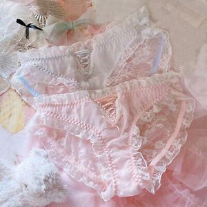 New Japanese Lolita Lace Ruffles Panties Sweet Girls Briefs Underpants Underwear