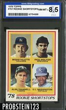 1978 Topps #707 Paul Molitor Milwaukee Brewers Rookie RC ISA 8.5 NM-MT+