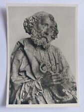Tilman Riemenschneider Sculpture Heidelberg Museum  B&W Postcard c1960s St.Peter