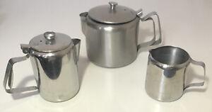 Vintage Stainless Steel Tea Set - Teapots And Jug (Viners & Sunnex)