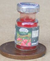 1:12 Scale Glass Jar Of Strawberry Jam Dolls House Kitchen Preserve Accessory