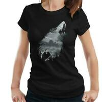 Game Of Thrones King Of The North Wolf Collage Women/'s T-Shirt