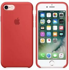 Apple iPhone 7 Or 8 Red Silicon Case Slim Great Handling Original Cover