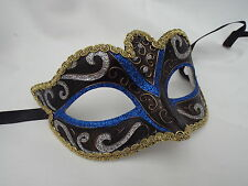 Venetian Masquerade Mask Party Fancy Dress Prom  BLUE GOLD BRONZE
