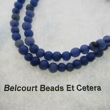 Quartz Gemstone 6mm Round Beads Purple Blue Color 70 Beads on Each Strand