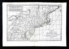 1779 Bonne Map - New England Massachusetts New York Pennsylvania United States