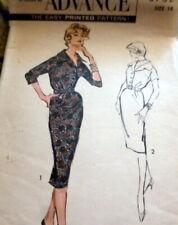 LOVELY VTG 1950s DRESS ADVANCE Sewing Pattern 14/34