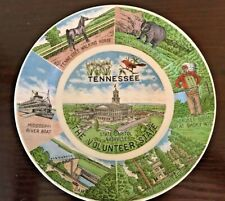 Vintage Tennessee Souvenir State Collector Plate