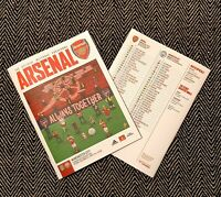 Arsenal v Manchester Man City CARABAO CUP QUARTER FINAL PROGRAMME 22 December 20