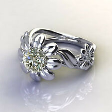 Fiery 2.10CT Off White Round Moissanite Engagement Ring 925 Silver $$$