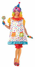 Adult Wiggles the Clown Costume Hoop Dress Circus Womens Size Standard